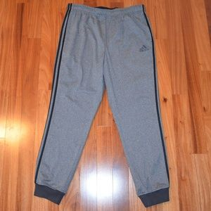 adidas gray cuffed ankle joggers size XL